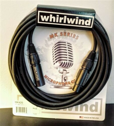 Whirlwind MK420  Handmade XLR Microphone Cable cord Made in USA super low noise
