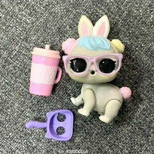 DEFECT Random 1pc LOL SURPRISE PETS CRYSTAL BUNNY Glitter Hair doll Authentic