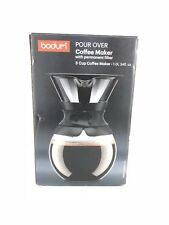 Bodum Coffee Maker, Pour over Coffee Coffee with Permanent Filter, Black