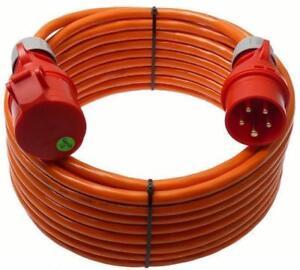 CEE 32A Verlängerungskabel-Starkstromkabel-H07BQ-F 5x2,5mm²