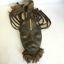African Tribal Art Bete Mask Cote D'Ivoire Ivory Coast Beard Hair