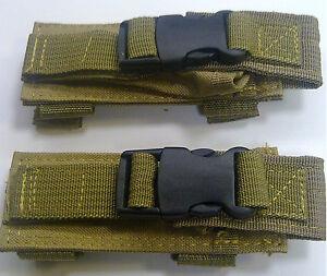 TAN-NEW-Tactical-MOLLE-double-2-Pistol-gun-Magazine-Pouches-Mag-Pouch