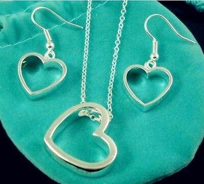 Wholesale Jewelry Set 925 Solid Silver Ladys Silver  Earrings/Bracelet/Necklace