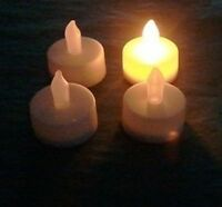 10 Led White Flameless, Waxless Unscented Tea Lights Candles, Tealights