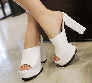 Schuhe Schuhe Schuhe ciabatte sabot Sandale tacco alto 11 cm comodi bianco 3af8c9