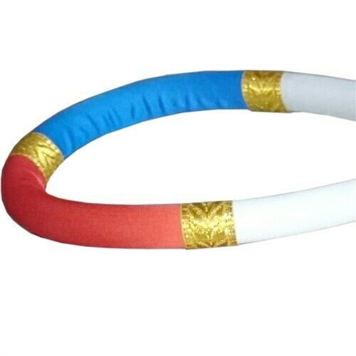 RED//WHITE//BLUE DUO GEAR TUBE STYLE FIGHTER RAM MUAY HEAD PIECE MONGKOL TUBE STYL