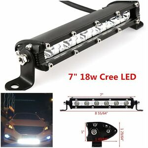 7inch 18w cree led work light bar flood spot suv boat driving lamp image is loading 7inch 18w cree led work light bar flood aloadofball Gallery