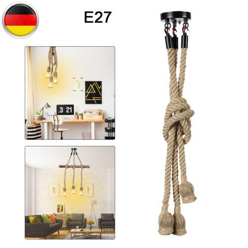 Industrielampe Vintage Hängeleuchte Retro Seil Pendelleuchte`Deckenlampen E27 De