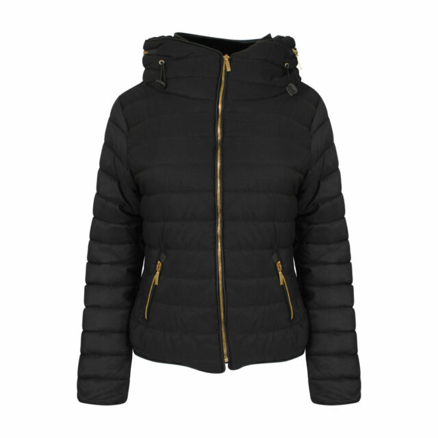 73620506fa980 Womens Bubble Puffer Jacket Ladies Quilted Padded Coat Fur Collar ...