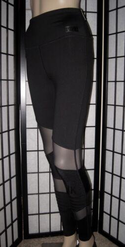 Nwt Black Ultimate alta Mesh Pink a Secret Panel Moto vita Leggings di Victoria's TSqEaaw