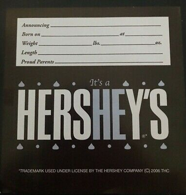 Birth Announcements It/'s a SHE Hershey bar wrappers 36ct It/'s a HE