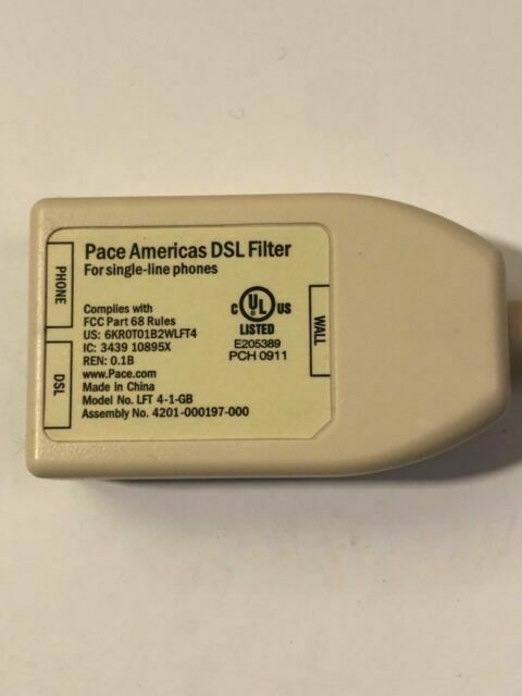 Lot of 5 Pace DSL Filter Single Line Phones Adapter New