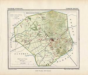 Antiguo mapnetherlandstown planholtenoverijsselkuyperkuijper