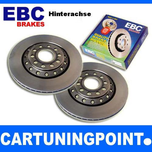 EBC Discos de Freno Eje Trasero Premium Disc para Toyota Alanlong 7 T23 D1243