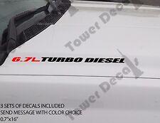 6.7L TURBO DIESEL Hood sticker decals emblem vinyl 4x4 fits: RAM DODGE CUMMINS