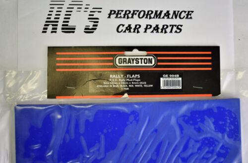 1 Par - MSA P.v.c Rally Mud Flaps Azul GE994B 50cm X 30cm X 4mm de espesor
