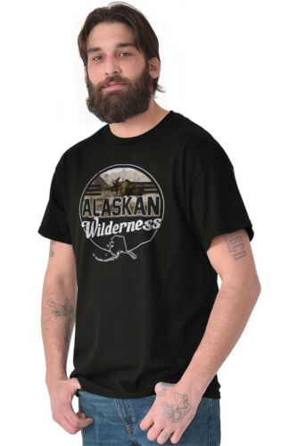 Alaska Wilderness Mountains Camping Hiking Short Sleeve T-Shirt Tees Tshirts