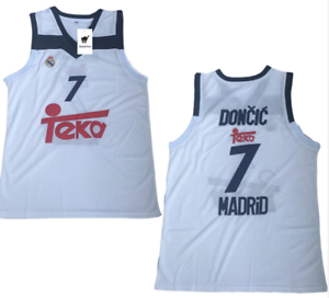 buy popular e7cef b13ca Details about Luka Doncic Madrid Basketball Jersey Dallas Mavericks NBA  Euroleague