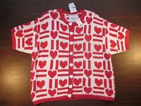 Marisa Christina Ii Sweater Hearts Be My Valentine Group 2x Vintage W/ Tags