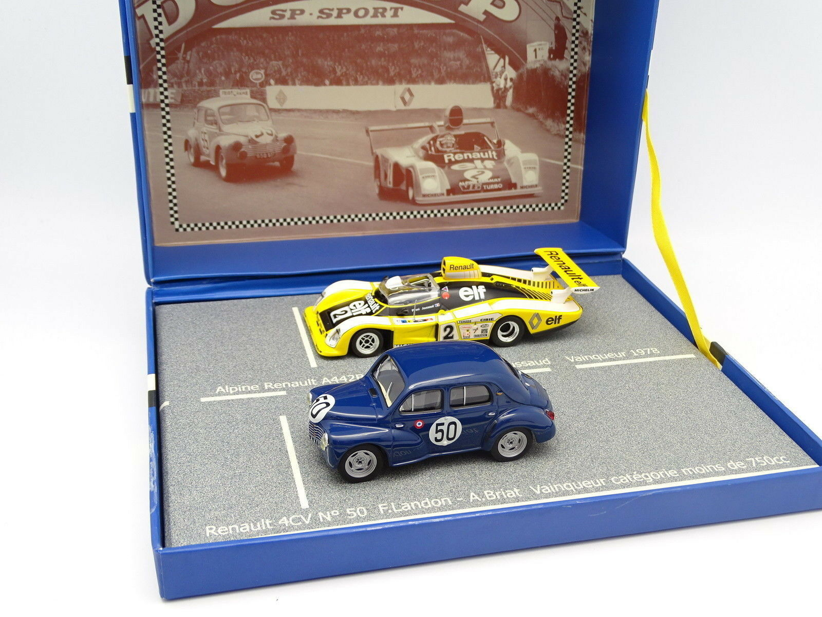 Ixo 1 43 - Caja Renault 4CV Le Le Le Mans 1951 + Alpine A442 B le mans 1978 53c620