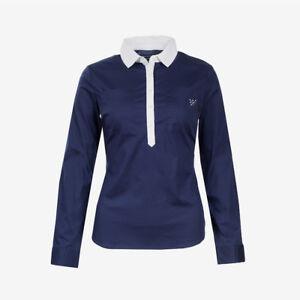 Horze-Crescendo-Rachel-Women-039-s-Cotton-Shirt-with-Tapered-Waist-and-Collar