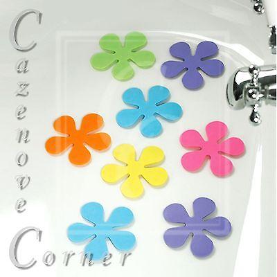 Anti-Slip Flower Bath Pads - Suction Base - x 8 Bath mats