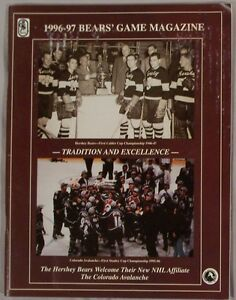 1996 HERSHEY BEARS vs BINGHAMTON RANGERS PROGRAM 11-24-96
