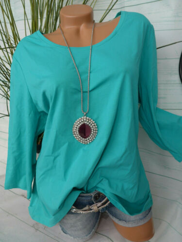 013 341 Sheego Femmes shirt taille 44//46 à 52//42 Turquoise argile col rond