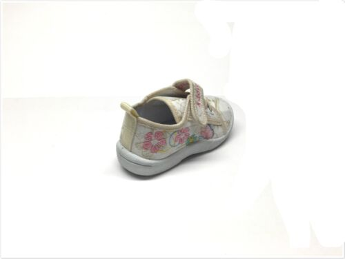 New Infant//Toddler Girls Embroidered Canvas Tennis Shoes 4 ~ 8