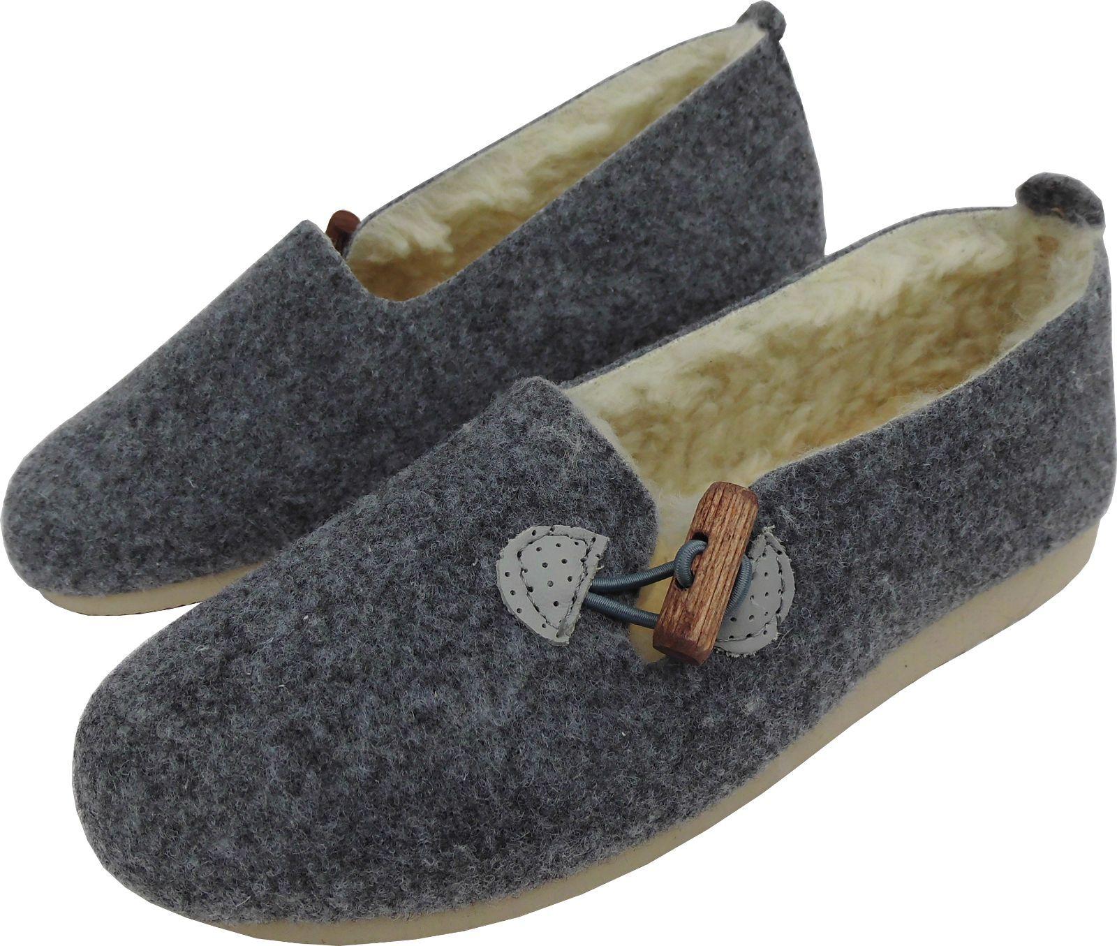Leichte, WARME Hausschuhe - Pantolette, GR.37 *Wollfilz+Schu<wbr/>rwolle (1910-4-70/8)