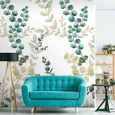 Vlies Fototapete Blätter moderne Tapete Floral grün Wohnzimmer  b-A-0373-am-a | eBay