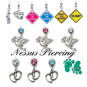 Details About Maternity Bioflex Flexible Belly Bar Piercing No Metal Bananabar Pregnancy Naval