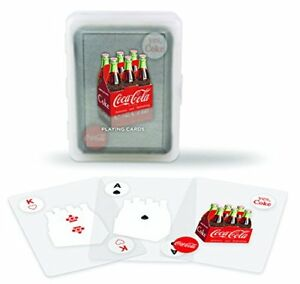 Bicycle-Clear-Coca-Cola-Playing-Cards-100-plastic-coke-bottle-with-case-new