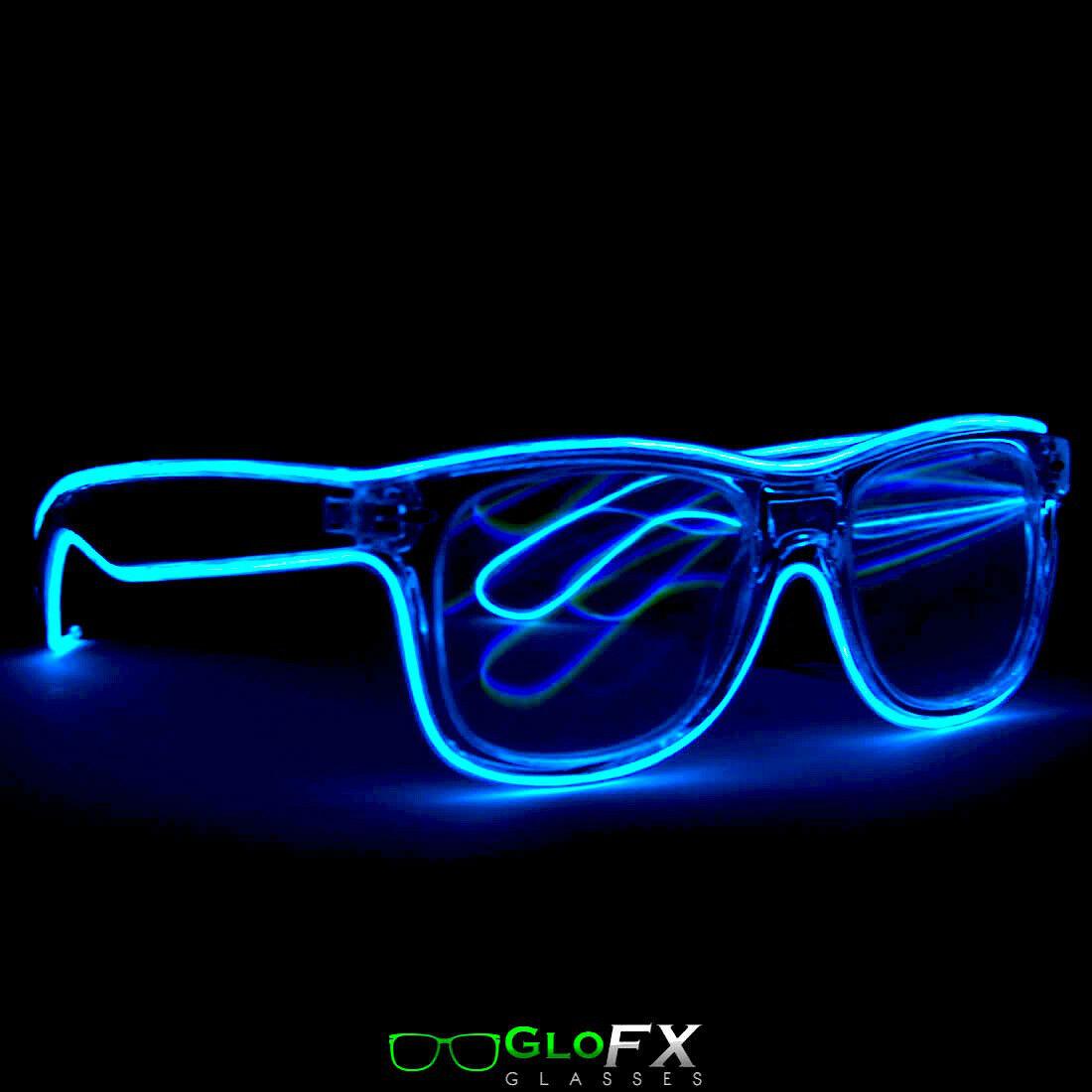 b9863ffc1fe4 GloFX LED Difraction Glasses optics eye wear raven eyewear lighted ...