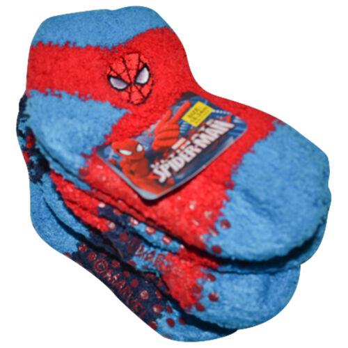Batman and Spiderman Boys Ankle Socks 6 pairs Fuzzy