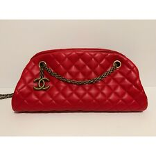 83dd7262ce1d4f item 3 ❤ 😍Authentic CHANEL JUST MADEMOISELLE Red Soft Leather Medium 2way Quilted  Bag -❤ 😍Authentic CHANEL JUST MADEMOISELLE Red Soft Leather Medium ...