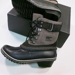 150-Sorel-Women-039-s-Fancy-Lace-II-Boots-Size-6-5-Black-Kettle-Sage-NEW