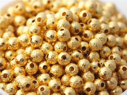 500 pcs plaqué or mat Perles Charm Espaceur Bracelet Collier À faire soi-même Findings 3 mm