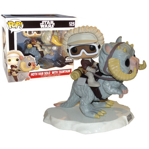Sealed NEW S.B Exclusive Funko Pop Vinyl STAR WARS Hoth Han Solo with Tauntaun