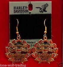 "Harley Davidson ""Eagle U.S.A"" Hook Earrings-Gold H311G-DE"