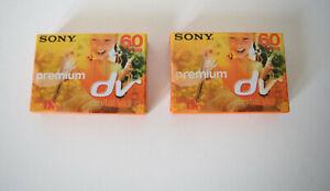 Lot de 2 Cassettes Mini DV Sony pour camescopes K7 neuves 60min/lp90