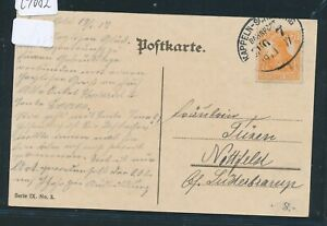 29082) Bahnpost Ovalstempel Kappeln-schleswig Train 7, Patriotik Ak 1917-afficher Le Titre D'origine