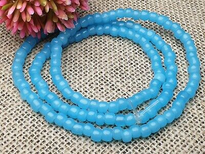 Strang antike Millefiori Perlen venetian trade beads doppelpyramie 20 x 12 mm