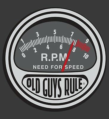 "OLD GUYS RULE "" NEED FOR SPEED "" RPM V8 MUSCLE HOT ROD  S/S SIZE L"