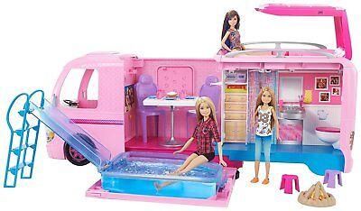 Gioco Il Camper Dei Sogni Barbie Playset Campeggio Mattel Elevato Standard Di Qualità E Igiene