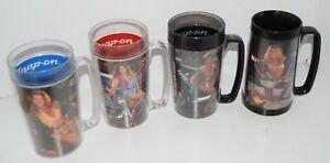 Collectibles Snap On Tools Calendar Girls Plastic Tumblers Mugs Vintage 1992 Set Of 2 Merchandise & Memorabilia