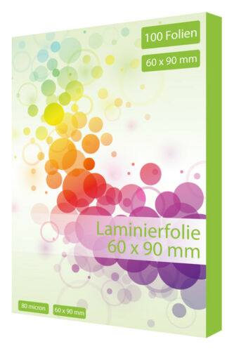 100 x Laminierfolien DIN A7 125 Mikron Laminiertasche Laminierfolie 60 x 90 mm