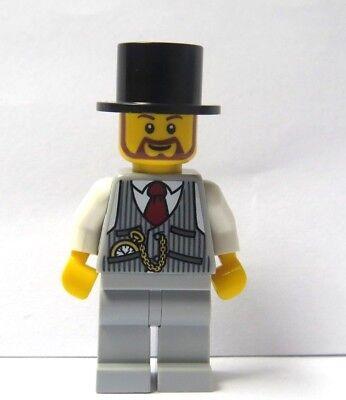 LEGO Dark Flesh Minifigure Black Suit Wedding Groom Best Man Usher Beard Stubble