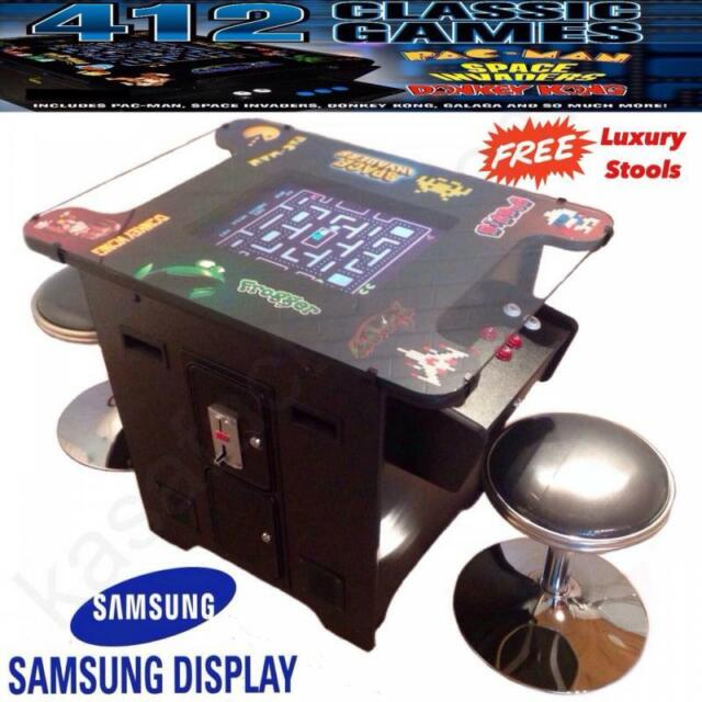 Retro Arcade Game Machine Table Cocktail Samsung Display Pacman Galaga Kasa