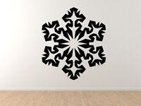 Snowflake Pattern #4 - Winter Art Christmas Decoration - Vinyl Wall Decal Decor